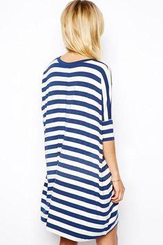stripes slub shirt - wear with leggings, jeans or as is. Love it!