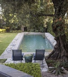 A swimming pool is a great way to bring life to a dull backyard because it encourages regular recreation and family fun time. An outdoor splash can be enclosed by a wooden surface or a concrete one and take on… Continue Reading → Small Swimming Pools, Small Backyard Pools, Backyard Pool Designs, Swimming Pool Designs, Outdoor Pool, Backyard Landscaping, Outdoor Spaces, Outdoor Living, Concrete Pool