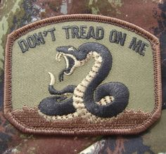 Don'T Tread on Me Tea Party Snake Army Camo Milspec Morale Forest Velcro Patch   eBay