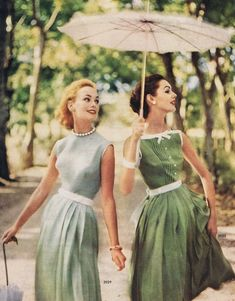 1957 pretty green dresses