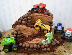 DIY Monster Truck Cake - Blaze and the Monster Machines Cake - Morgan Manages Mommyhood