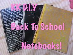 KK D.I.Y: Back To School: Kpop Notebooks