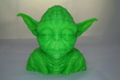 Crazy awesome resolution Giant 3D Printed Yoda bust.