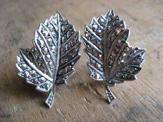 $38 - Fantastic vintage earrings.  Sterling silver