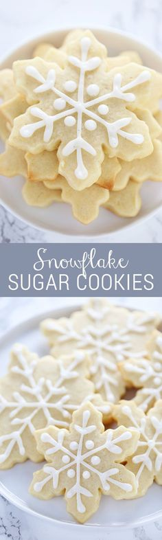 How to make EASY snowflake sugar cookies with a bunch of baking hacks to save you time! Step-by-step video included too!