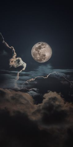Night, clouds and moon, sky Wallpaper - moon photography Wallpaper Moon, Night Sky Wallpaper, Wallpaper Space, Iphone Background Wallpaper, Galaxy Wallpaper, Nature Wallpaper, Dark Wallpaper Iphone, Lock Screen Backgrounds, Wallpaper Wallpapers