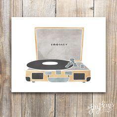 Crosley Turntable Wall Art Print Home Decor by LayLaysShoppe