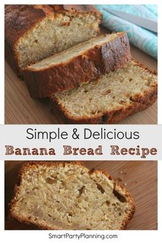 This simple and easy banana bread recipe will make your family think you have turned into a domestic goddess. It is light, fluffy, moist and oh so incredibly delicious. Just the smell coming from the oven is enough to drive you crazy for it. Oreo Dessert, Dessert Recipes, Banana Dessert, Appetizer Dessert, Dessert Bread, Cake Recipes, Dinner Recipes, Holiday Bread, Christmas Bread