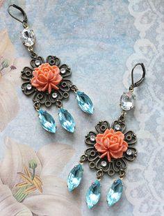 Bohemian Romance Earrings by rosesandlemons