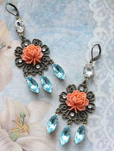 Bohemian Romance Earrings by rosesandlemons #bohemian #love #romance