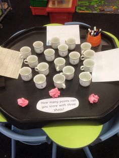 How many points can you score? Num and fine motor Maths Eyfs, Numeracy Activities, Subtraction Activities, Eyfs Classroom, Preschool Math, Kindergarten Math, Teaching Math, Number Activities, Classroom Activities