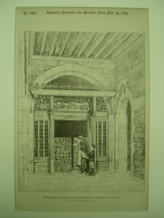 Proposed Screen for the Rector's Room at Stirling High School , Stirling, Scotland, UK, 1891, J. M. MacLaren
