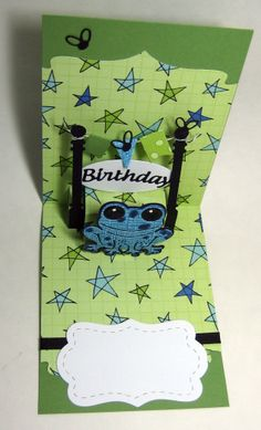 Raquel Mason using the Pop it Ups Lots of Pops and Hoppy the Frog dies by Karen Burniston for Elizabeth Craft Designs - Raquel's Stampin' Blog: Hoppy is a poisonous dart frog