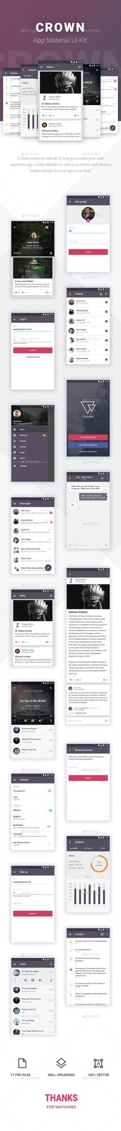 Crown Android Material UI Kit (User Interfaces)