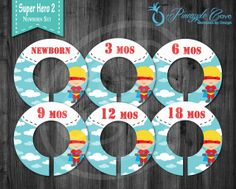 Baby Boy Closet Dividers to Organize Clothing for Baby Room   Super Hero