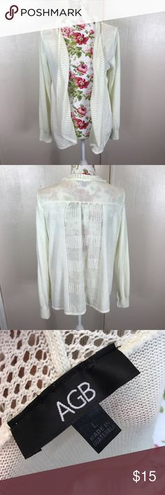 Cream it open cardigan Cream colored knit open cardigan. Excellent condition AGB Sweaters Cardigans
