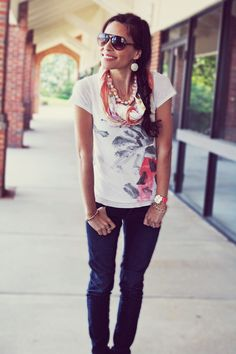 soo cute! great way to dress up t-shirts! From, In Honor Of Design