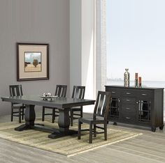 Contemporary Amish Made Dining Room Suite