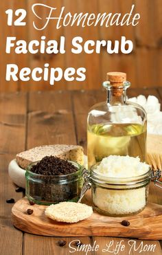 12 Homemade Facial Scrub Recipes with all natural ingredients from Simple Life Mom