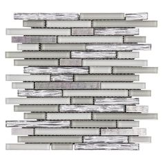 Jeffrey Court Fresh Taffy 12 in. x 12.25 in. x 8 mm Glass/Metal Mosaic Wall Tile 99586 at The Home Depot - Mobile
