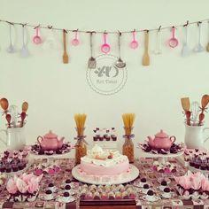 cha de cozinha tema cupcake - Pesquisa Google