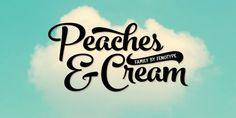 Font dňa – Peaches And Cream