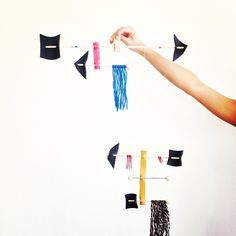 leather and yarn mobiles from #craftingcommunity