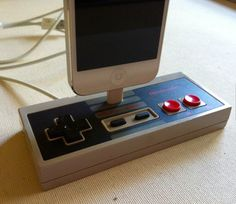 Gifts for boyfriend - Nintendo Controller iPhone 5 Docking Station Cool New Gadgets, Gadgets And Gizmos, Tech Gadgets, Tech Gifts For Men, Cool Tech Gifts, Nintendo Controller, Nintendo Wii, Cool Technology, Futuristic Technology