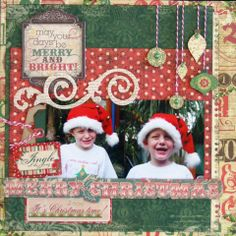 Merry & Bright page created with Rejoice collection for BoBunny Club Kits. Visit http://www.myscrappinshop.com.au/paper-collections/bobunny/bobunny-club-kits.html to find out more. 2012 #BoBunny