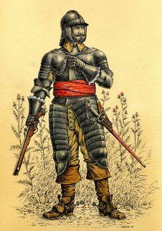 Cuirassier 17th Century Military Art, Military History, Empire Total War, Types Of Armor, Thirty Years' War, Early Modern Period, Armadura Medieval, Modern Artwork, Modern Warfare