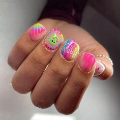 Funky Nails, Trendy Nails, Cute Nail Art, Cute Nails, Gel Nails, Nail Polish, White Acrylic Nails, Nail Colors, Color Nails