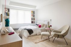 Прекрасные шторы в спальной комнате