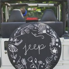 Learn how to paint a simple jeep tire cover to personalize your car!