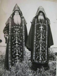 "Costume of your life and character. ""Great Schema monks of the Russian Orthodox Church, robed in full habit of the highest degree of Eastern monastic tradition. Occult Art, Occult Books, Occult Symbols, Magic Symbols, Russian Orthodox, Mystique, Magick, Witchcraft, Wicca"