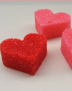 Heart Sugarcubes — Lihy sweetened her Valentine's Day morning coffee with homemade sugarcubes in the shape of hearts.