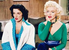 "Jane Russell and Marilyn Monroe in ""Gentlemen Perfer Blondes"". 1953"