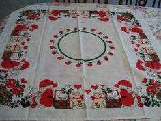 Scandinavian Tablecloth Topper Vintage Signed Jensen by FabVintageEstates on…