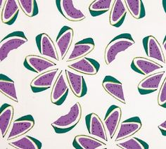 ¤ 'Watermelon' pattern by Andy Warhol for Fuller Fabrics, about 1956