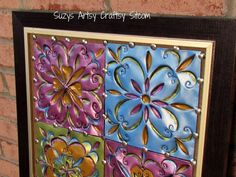 Would you believe this used to be a disposable cookie sheet?  Fun tutorial! #recycled crafts