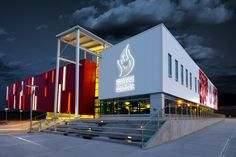 Canada's Sports Hall of Fame features Kingspan's insulated metal panels for a striking first impression. Insulated Panels, Sport Hall, Visit Canada, Western Canada, Panel Systems, Metal Panels, Door Opener, Alberta Canada, Calgary