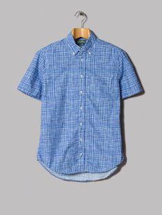 Gitman Vintage Short Sleeve Button Down Shirt (Trippy Check)