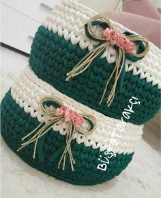 Crochet Basket Owl Home Decor 37 Ideas For 2019 Crochet Bowl, Crochet Basket Pattern, Knit Basket, Crochet Flower Scarf, Crochet Lace, Crochet Stitches, Crochet Decoration, Crochet Home Decor, Embroidery