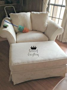 Fabric Dilemma: Reupholstering Furniture | Queen of Everything
