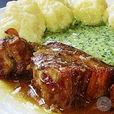 Moravský vrabec   bonvivani.sk No Salt Recipes, Pork Recipes, Mexican Food Recipes, Cooking Recipes, Recipies, Slovak Recipes, Czech Recipes, Pub Food, Food 52