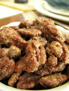 Candied Pecans! I love these on a pickled beet, Granny Smith apple and goat cheese salad!!