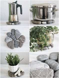How to upcycle your souvenirs: easy made stone mats