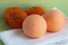 These simple therapeutic orange bath bombs are made to create an uplifting bath experience, and provide a relaxing effect on the body, as well. The orange essential oil in them is also great for the skin & there are some indications it may help somewhat with acne too. No worries, while many citrus essential oils are phototoxic, orange is not. Here is what Young Living has to say about orange essential oil: Orange (Citrus sinensis) essential oil has a rich, fruity scent that lifts the…