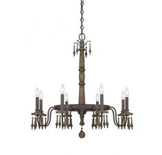 Barn Wood Candle Chandelier : 1-281-8-21   Tallahassee Lighting, Fan & Blind