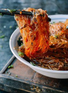 Ants Climbing a Tree (Sichuan Glass Noodle Stir-fry), by thewoksoflife.com