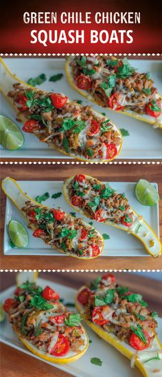 If you don't have a lot of time to prepare an elaborate meal for yourself or your family, try stuffing squash or zucchini with a lean protein and complex carbohydrate source. Add a little bit of Latin flair with cilantro and green chiles, and you have a meal that will make you an instant hero at dinner time. #fitmencook #fitwomencook #healthy #cleaneating #chile #squash #chicken